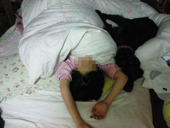 子どもの寝姿