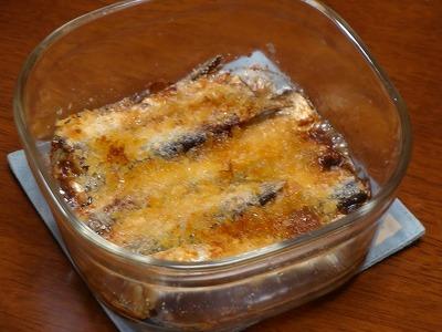 120116サーディンのチーズパン粉焼き③