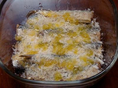 120116サーディンのチーズパン粉焼き②