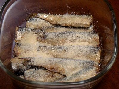 120116サーディンのチーズパン粉焼き