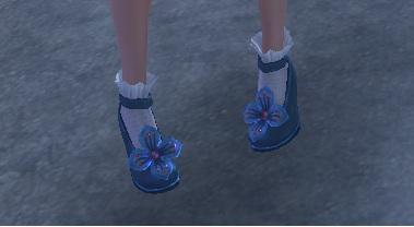 お花のついてない靴2