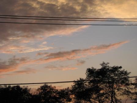 2008.10.19-二階からの夕焼け