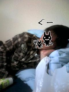 のんだくれて寝るぱぱさん