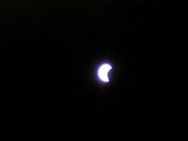 部分日食です・・・
