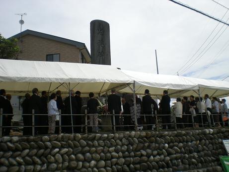 淺川地区戦没者慰霊式