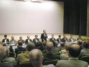 山野市長から市政へ望む姿勢・決意等も聞きました。