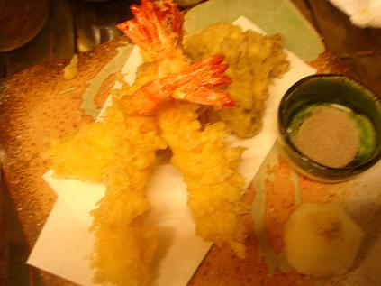 えびと舞茸の天ぷら