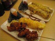 天ぷらとおにぎり