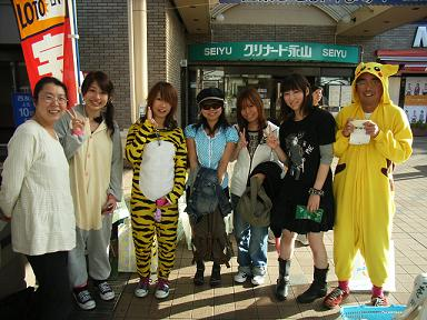 へらそうレジ袋 キャンペーン 恵泉:篠田先生とゼミ生