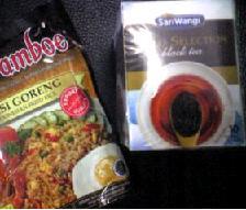 @バリのお土産のナシゴレンノモト&お茶