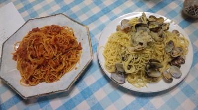 パスタ(ボンゴレ&トマトソース)