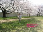桜に興味津々☆