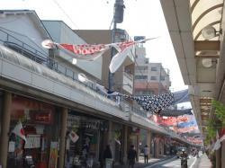 商店街の鯉のぼり