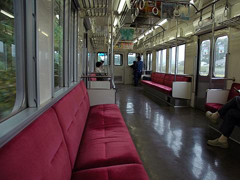 関東鉄道車内