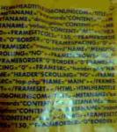 htmlが書いてある某お店の袋