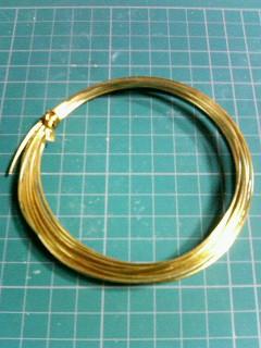 ダイソー真鍮針金1.2mm
