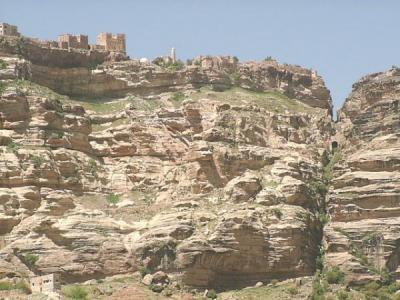 イエメン 山の上の集落