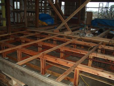 床下工事(2009年1月29日)