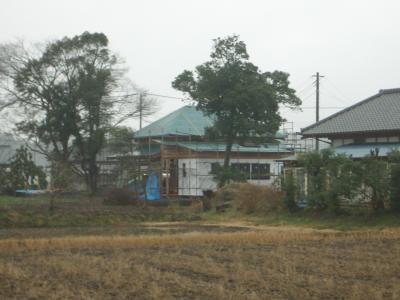 北側道路より(2009年1月29日)