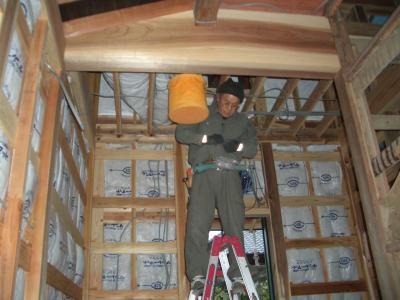 ただ今電気工事中(2009年2月5日)