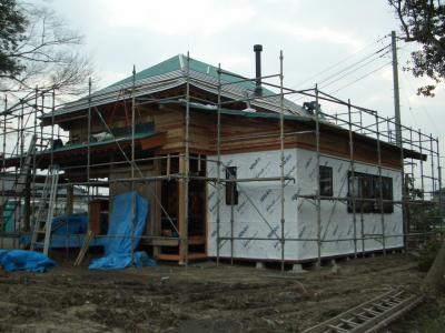 板金工事中(2009年2月5日)
