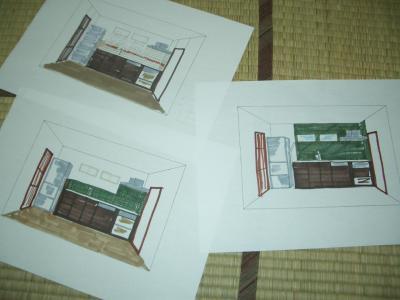 台所パース図その2