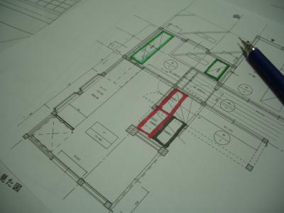 キッチン周り平面図