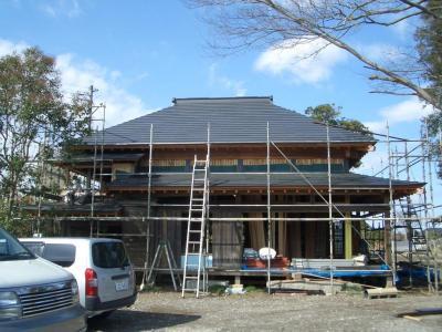 上屋完成(2009年3月7日)