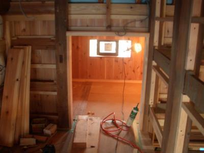 中2階収納部分入口(2009年3月24日)