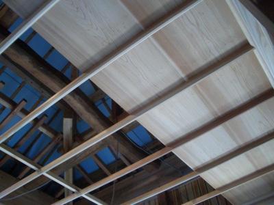 猿頬の竿縁天井