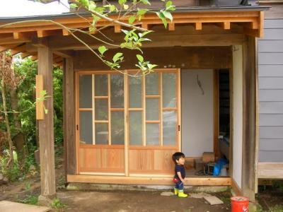 玄関戸(塗装前)