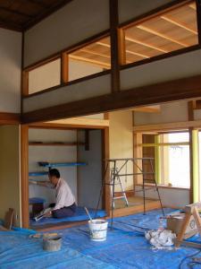 和室漆喰中塗り(09年5月2日)