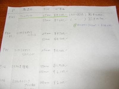 タイル比較表