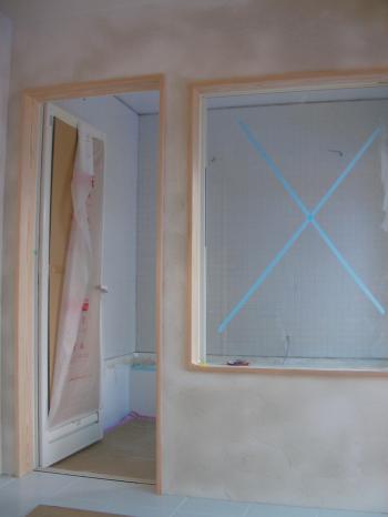 塗り終了 浴室方向
