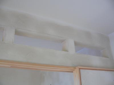 塗り終了 欄間部分