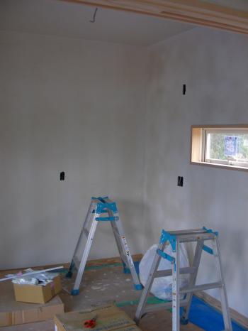 塗り終了 洗濯部屋