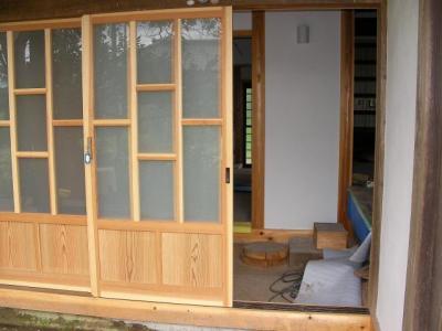 玄関扉と上がり框の位置関係