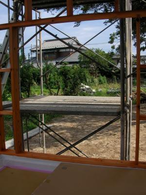 浴室窓の木枠