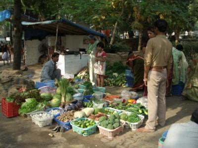 インドの家 野菜市場