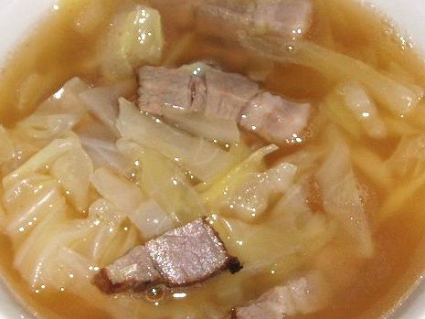 20081103自家製ベーコンとキャベツのスープ