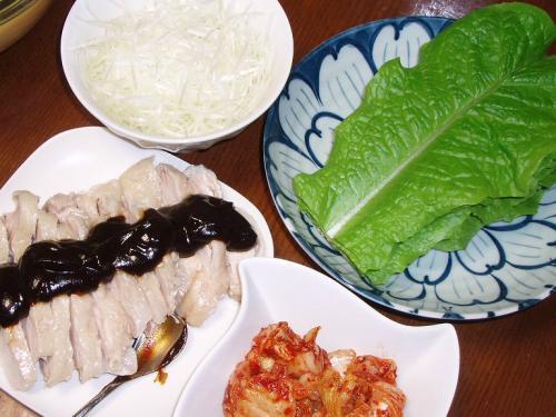 20081125蒸し鶏