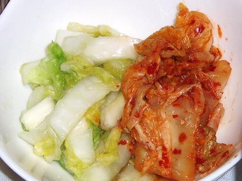 20081128白菜漬とキムチ