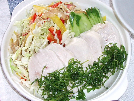 20081129鶏ハムサラダ