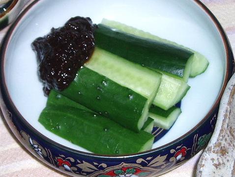 2009110梅味噌もろきゅう