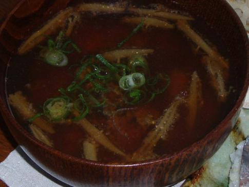 2009110牡蠣とジュンサイのお味噌汁