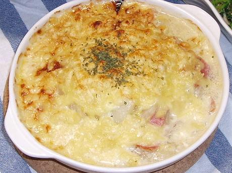 2009113はくさいとベーコンのクリームスープ焼き