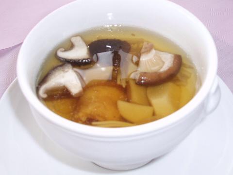 20090222白身魚のフリットときのこのスープ