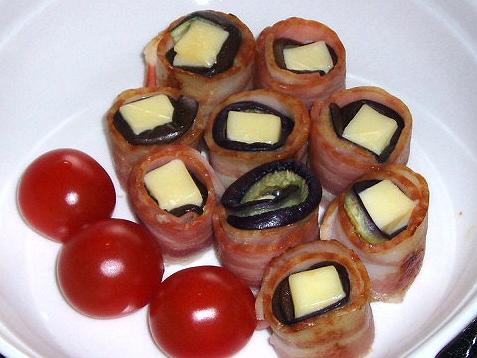 20090326チーズとおナスのベーコンまき