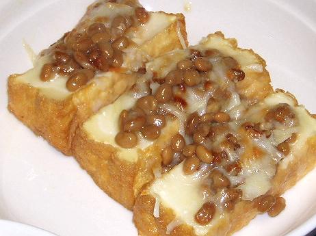 20090402厚揚げの納豆チーズ焼き