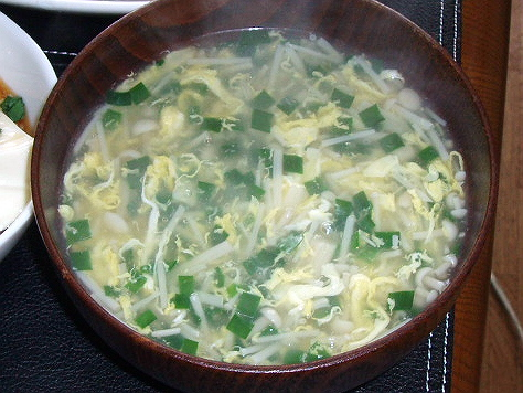 20090407ニラ玉スープ